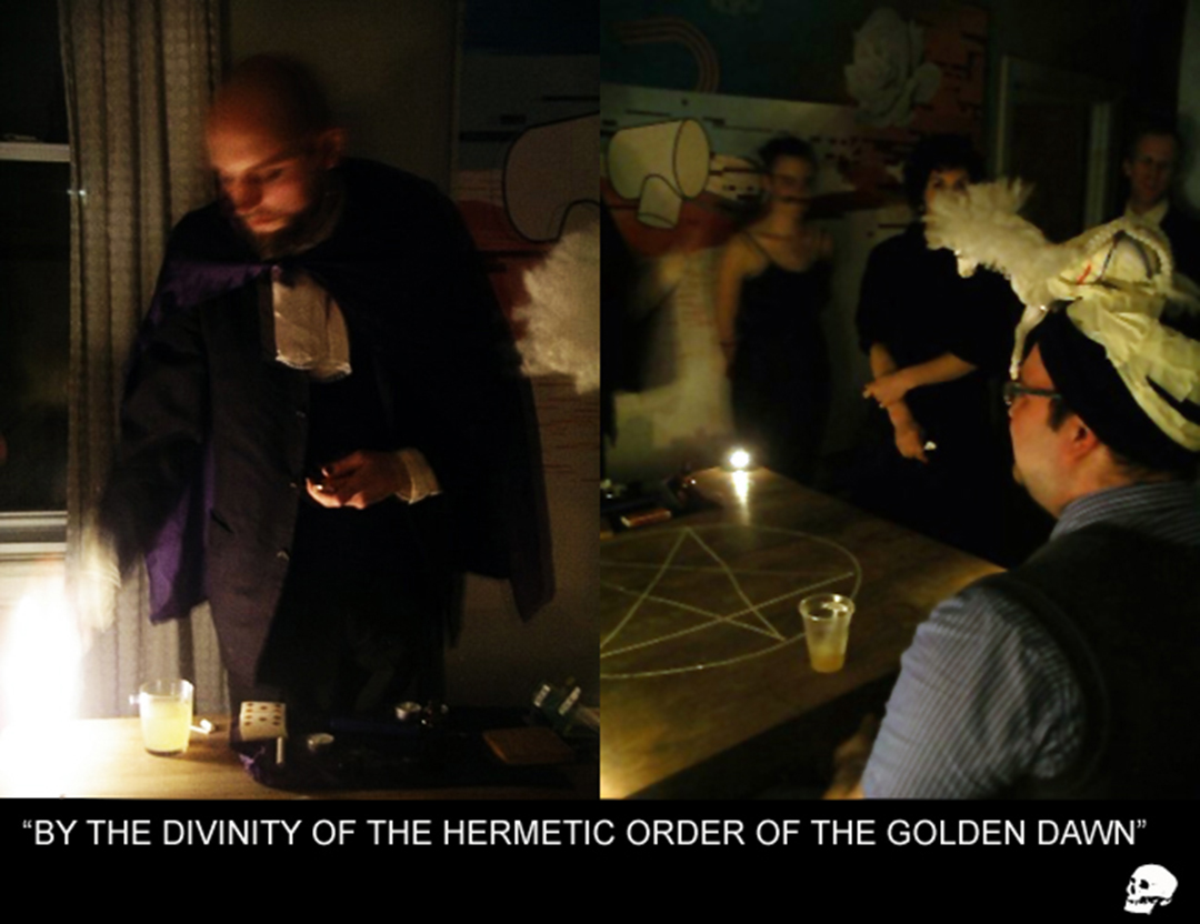 "Composite image from ""By the divinity..."" a performative séance with James Fitzgerald Craig, and Ian Curtis, 2008"