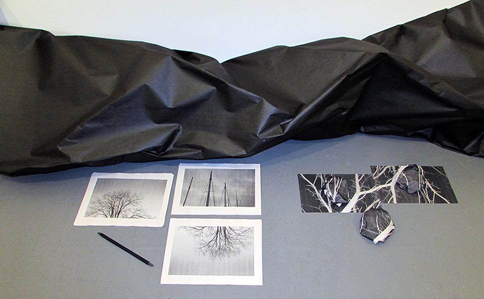 """as previously seen"" (detail) mixed-media installation, 2015"