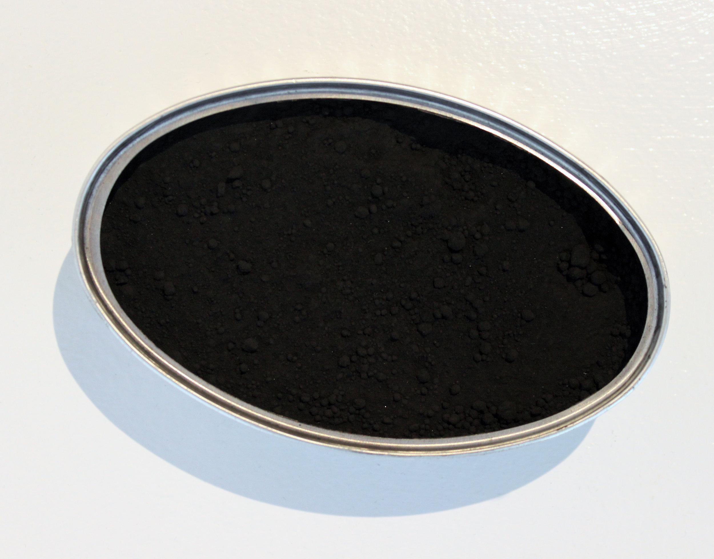 """open sea"" (detail) fish tin with black chalk, 2016"
