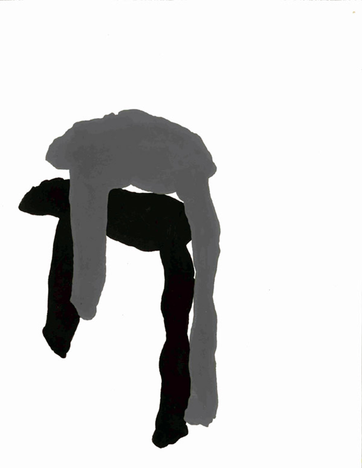 """""""over the back of the chair""""  flashe on paper, 2012"""