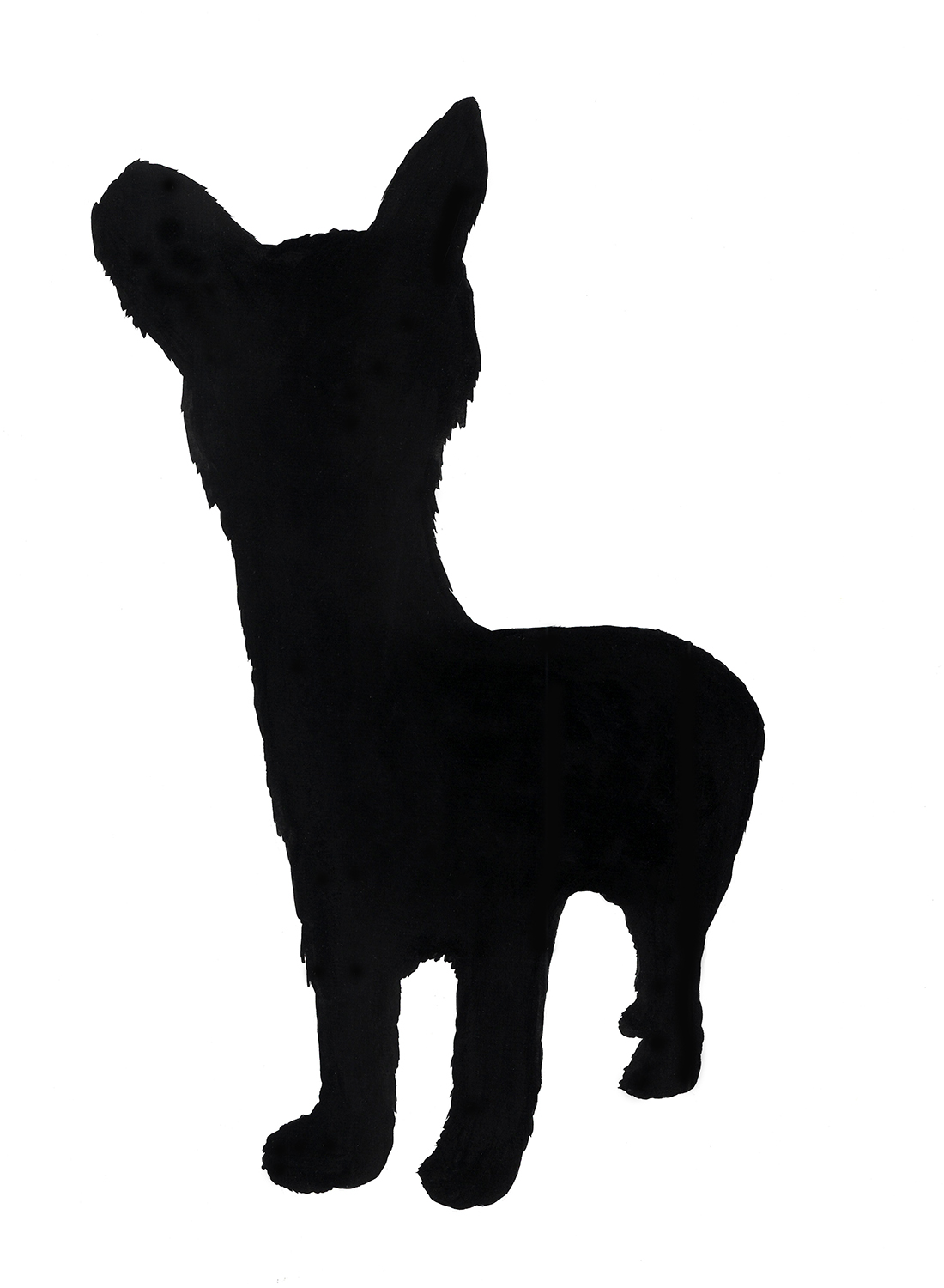 """""""sadie dog with neck"""" ink and flashe on paper, 2012"""