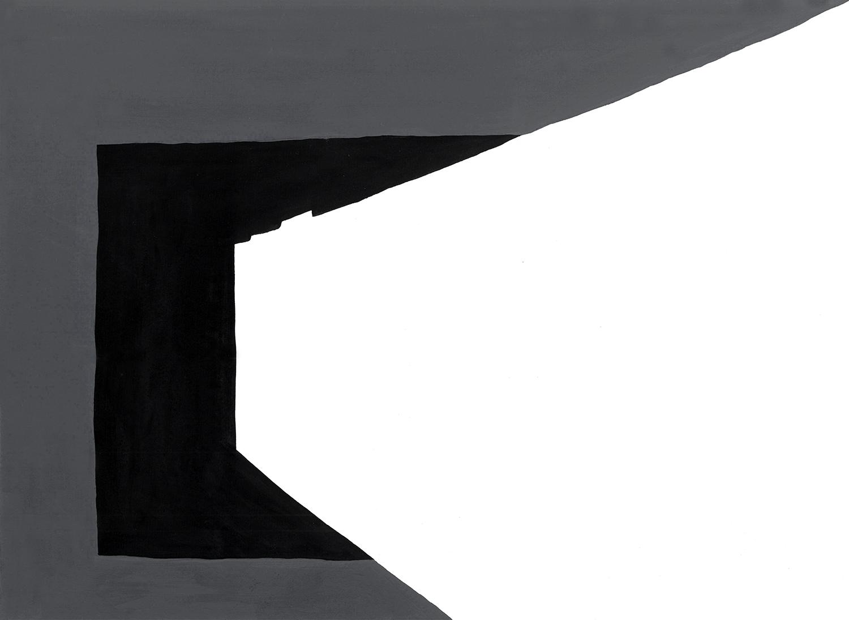 """""""the open door"""" flashe on paper, 2012"""