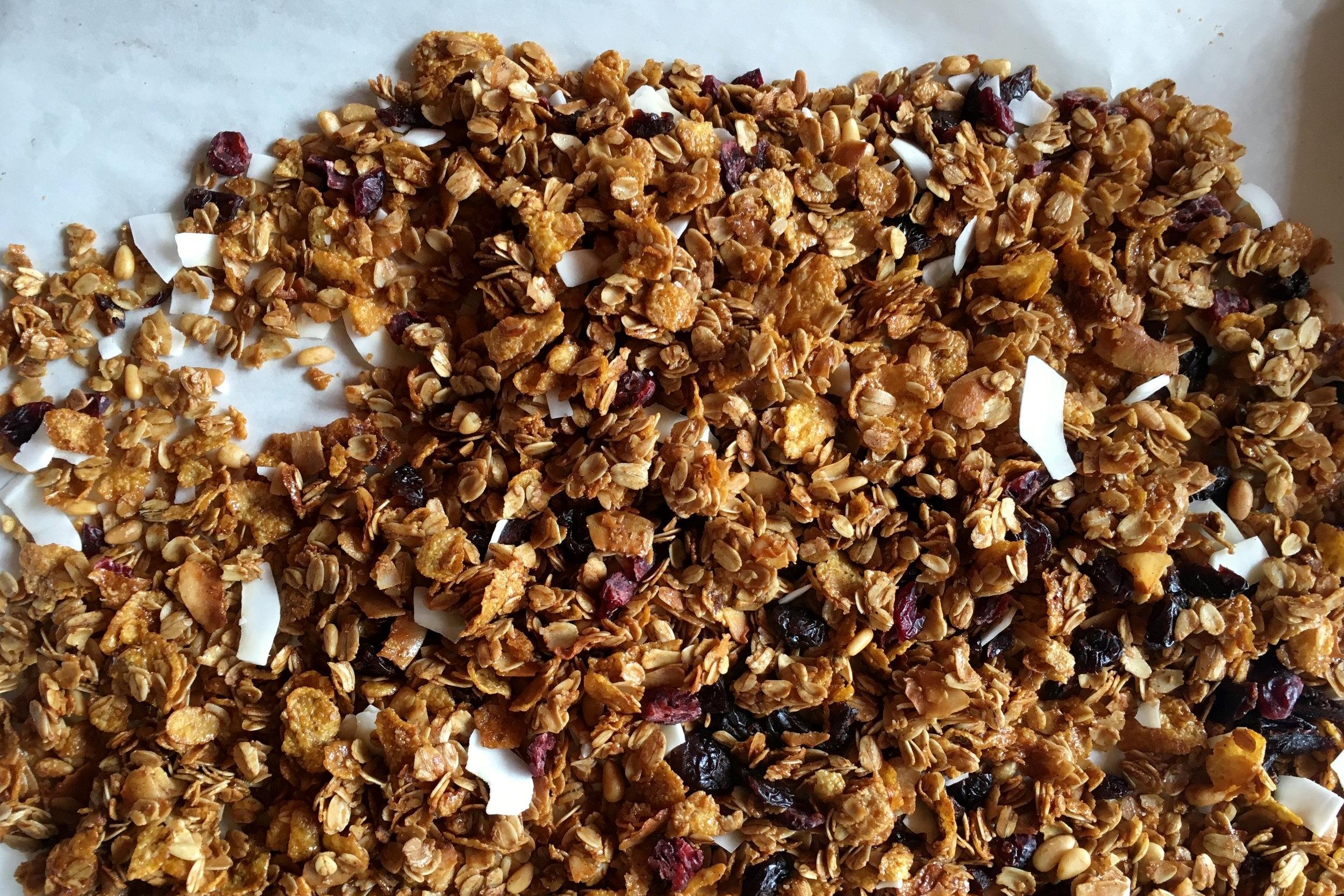 crunchy caramel granola