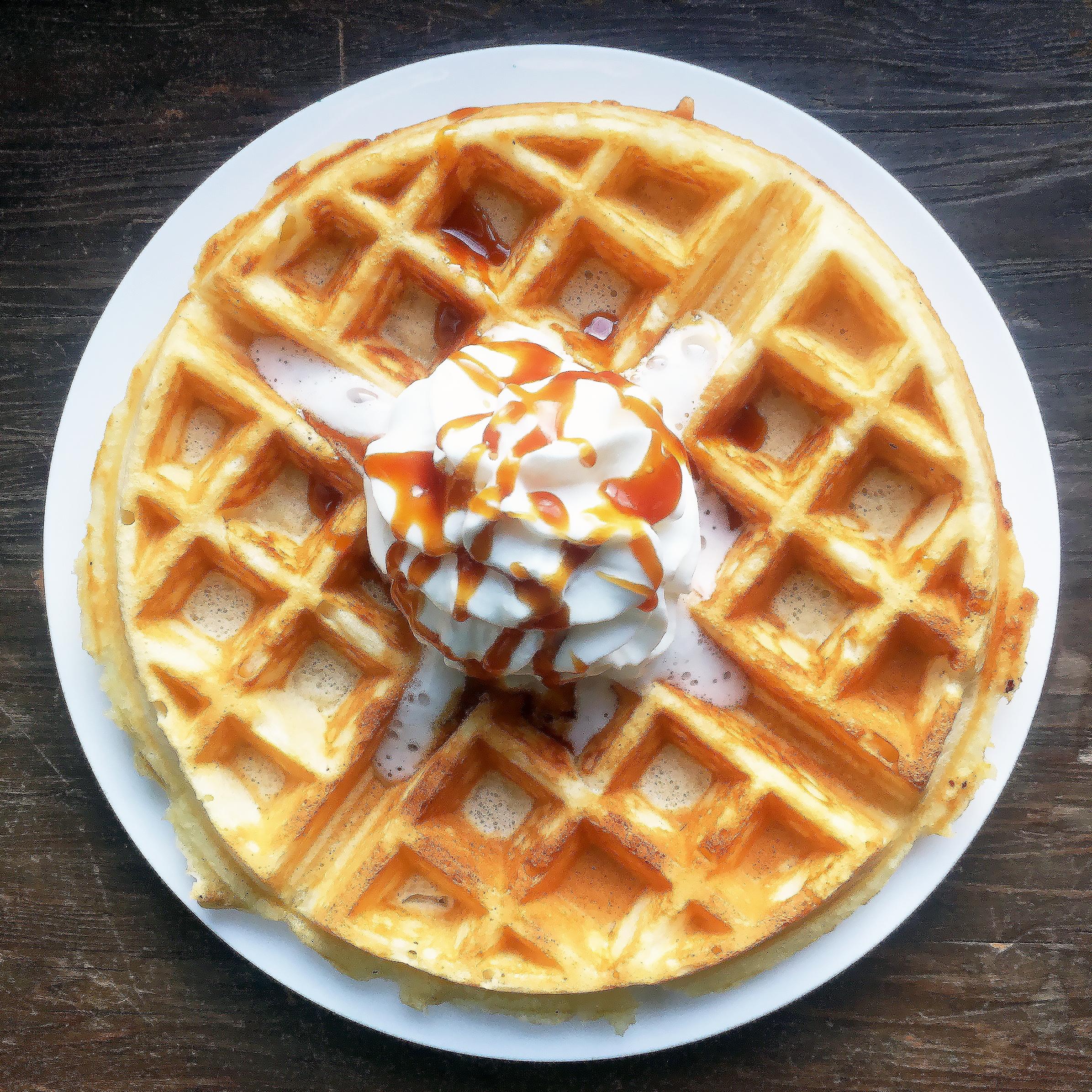 waffle sundae