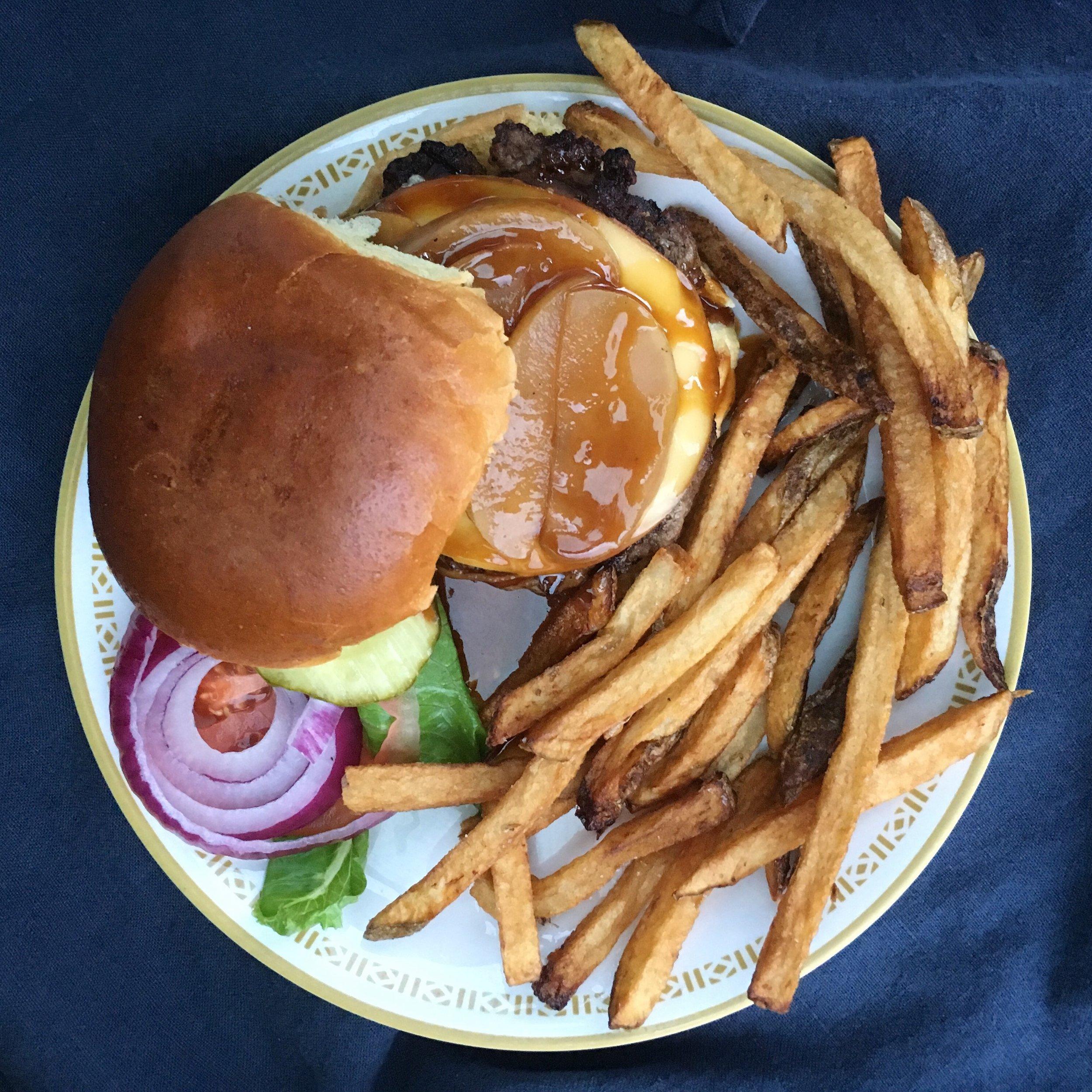 On a burger!