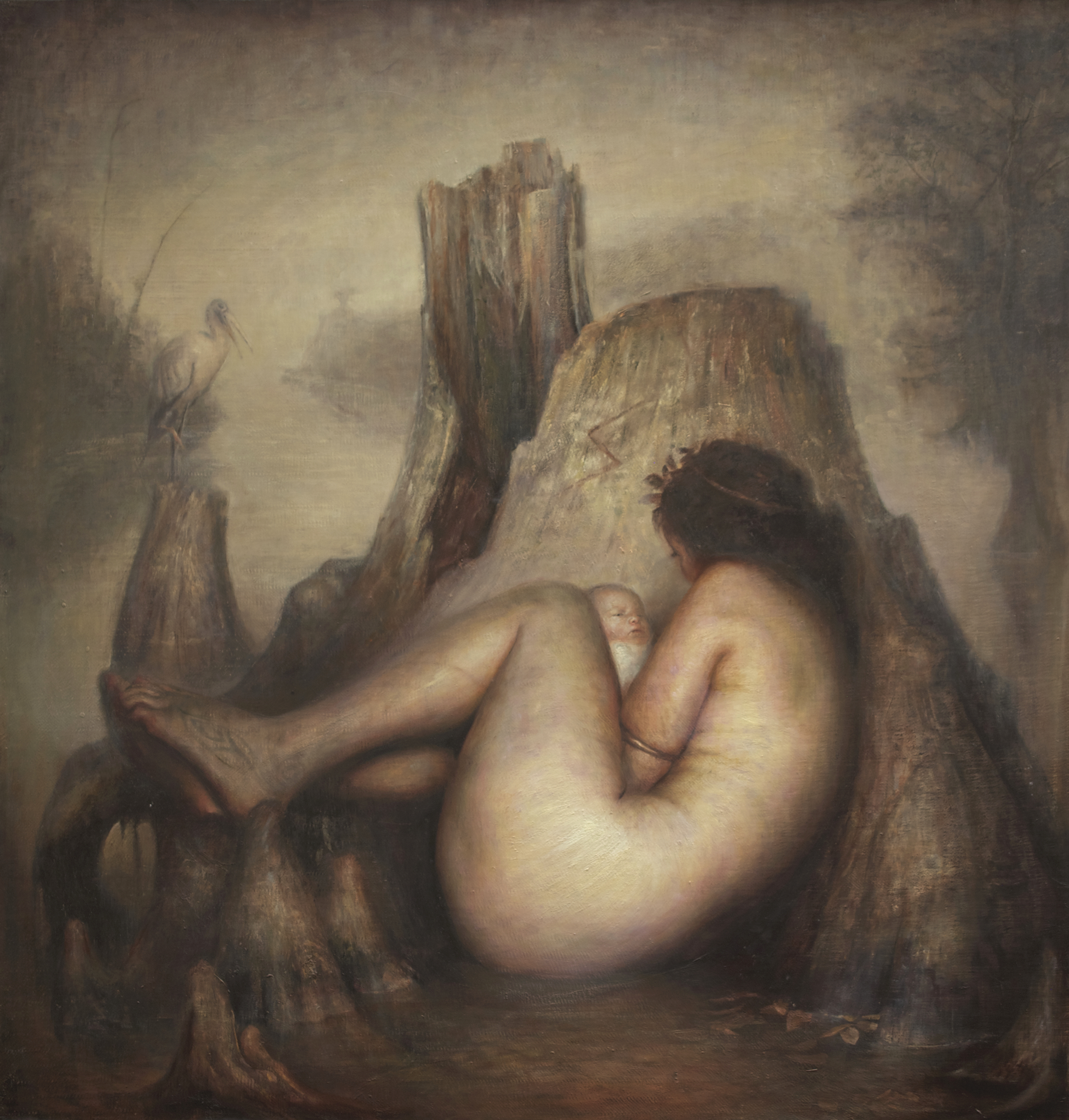 "Swamp Mama  |  48"" x 46"""