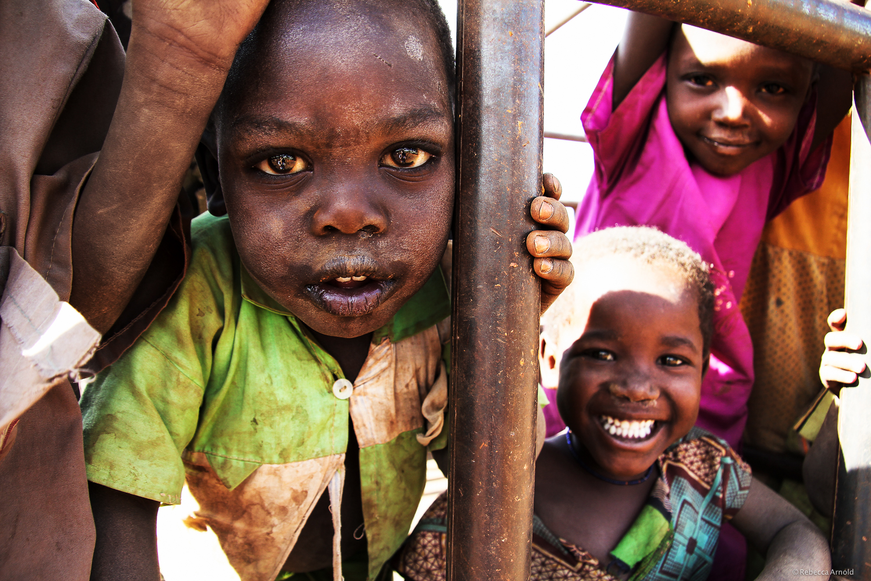 Kids living so rural, they've never seen a white person. Kapkwata, Uganda