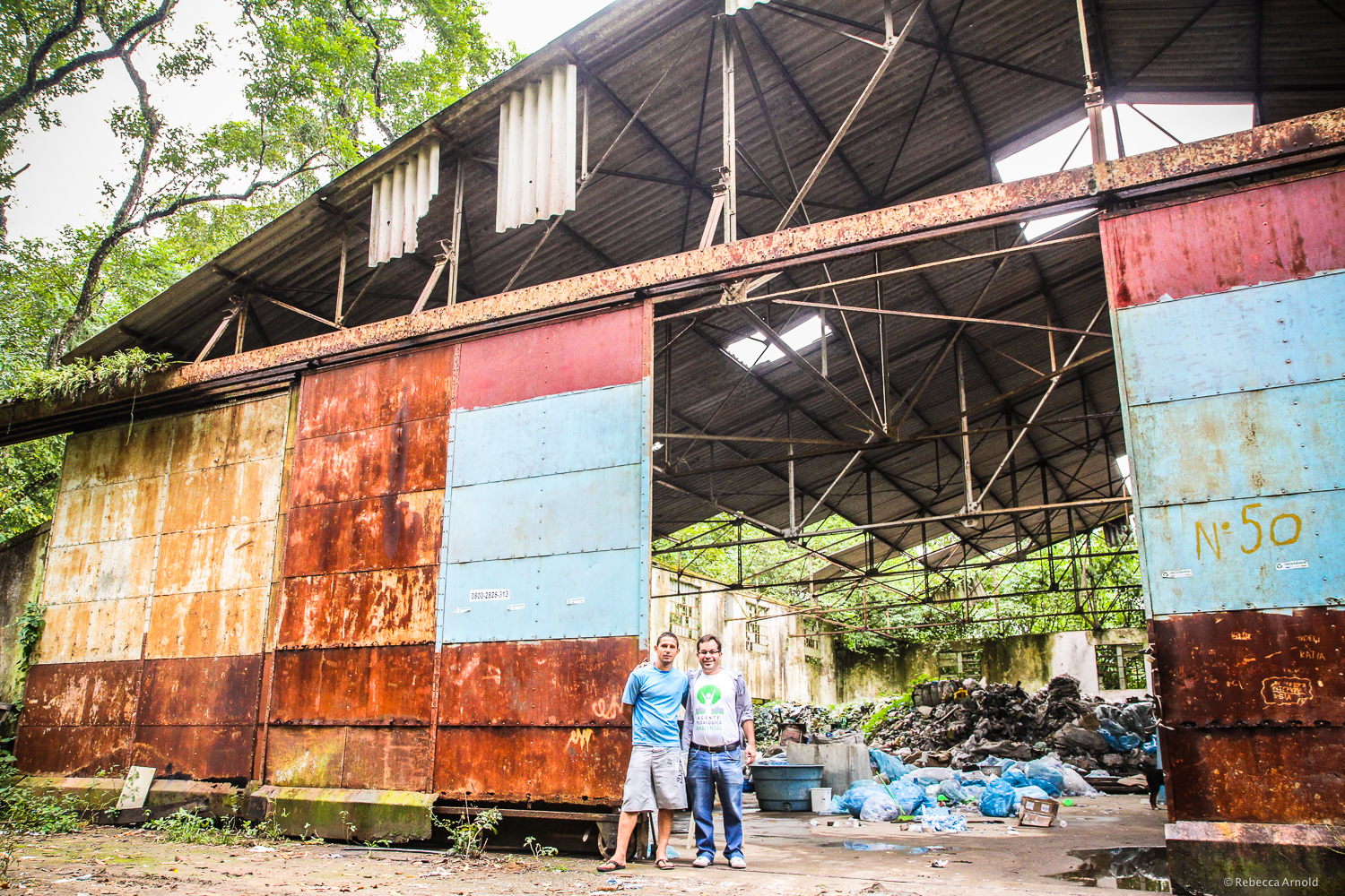 Duque de Caxias, Brazil.  CARE Brazil  supports this small recycling operation in an abandoned airplane hanger.