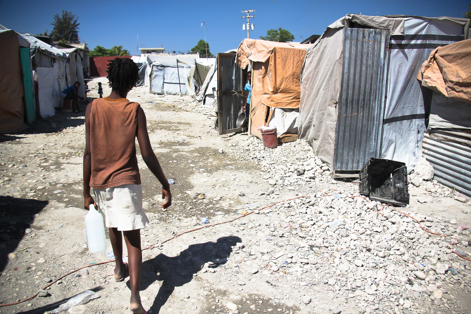 Port Au Prince, Haiti. Tented camp, two years after the 2010 earthquake.