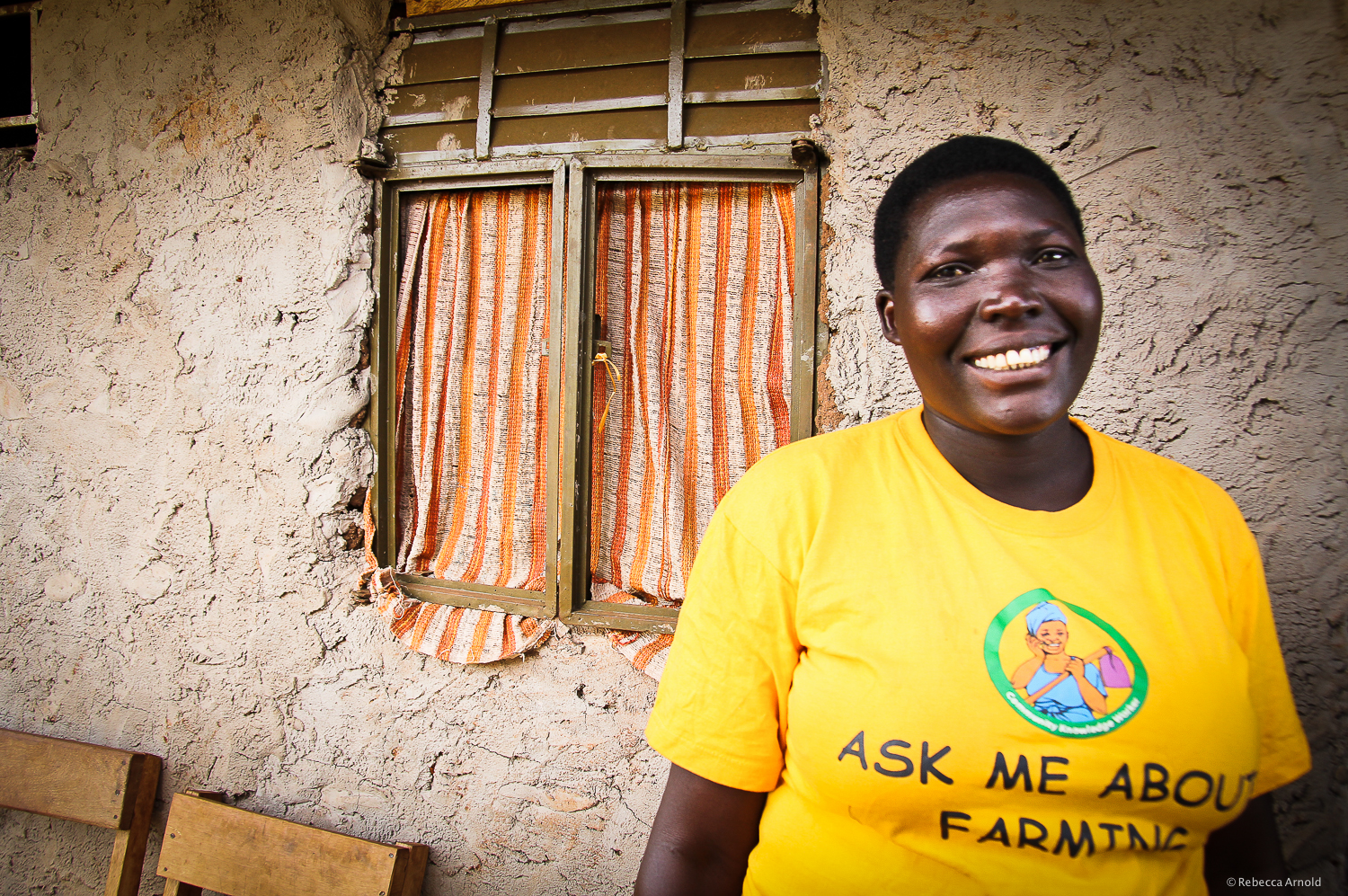 A  Community Knowledge Worker , sharing farming info with her community via a simple smart phone's database.