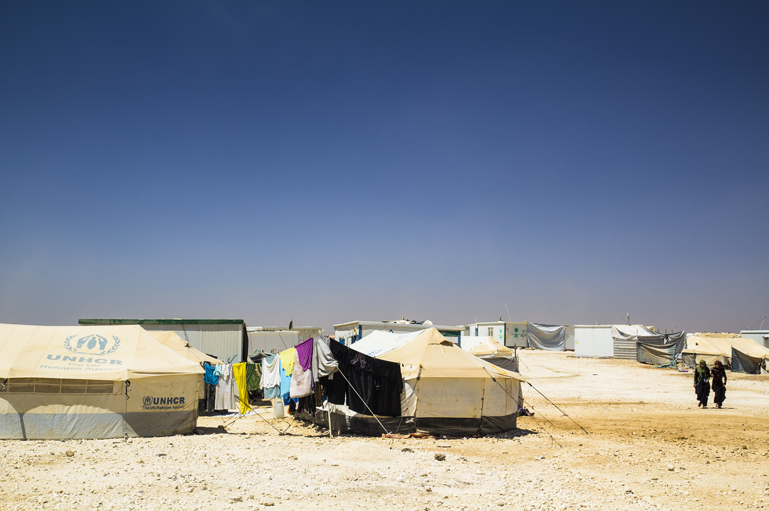 Zaatari, United Nations refugee camp for 80,000 Syrian refugees.