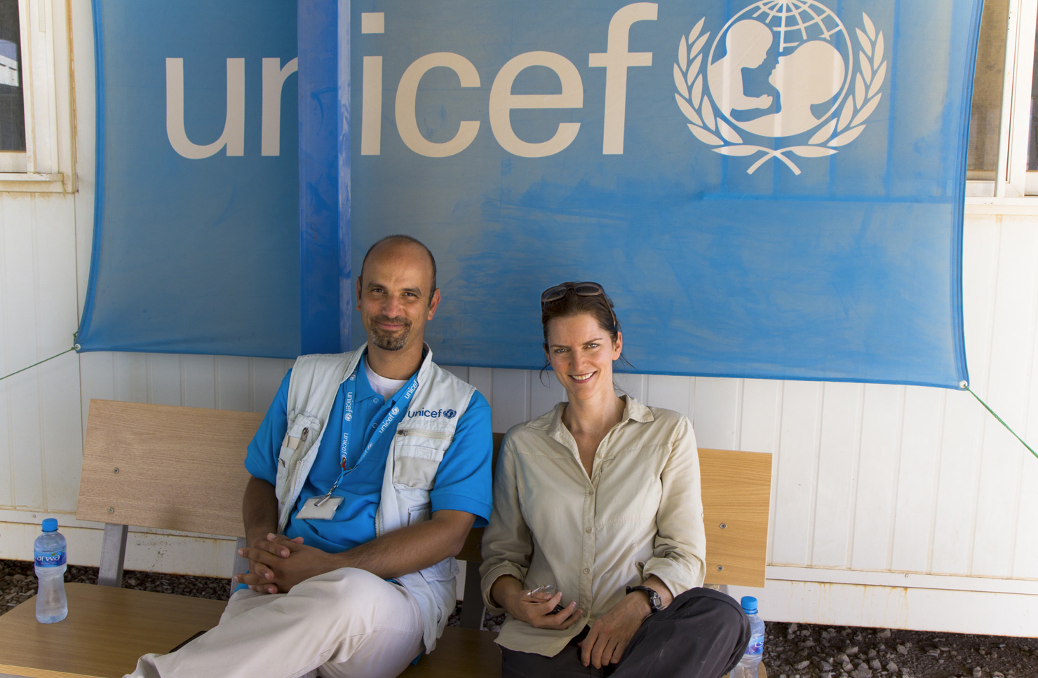 Rebecca Arnold with UNICEF, Zaatari Syrian refugee camp, Jordan