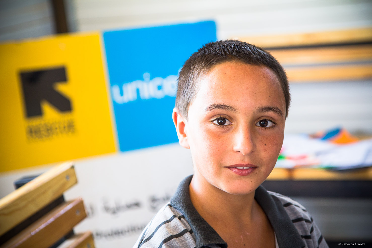 International Rescue Committee (IRC) art therapy for kids,  Zaatari Syrian Refugee Camp, Jordan