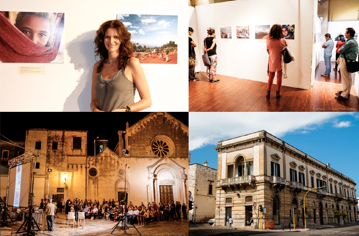 "2013 ""La Notte della Cultura"" ""The Night of Culture"" in Galatina, Italy, features Rebecca's exhibit: ""The Others Inside Me."""