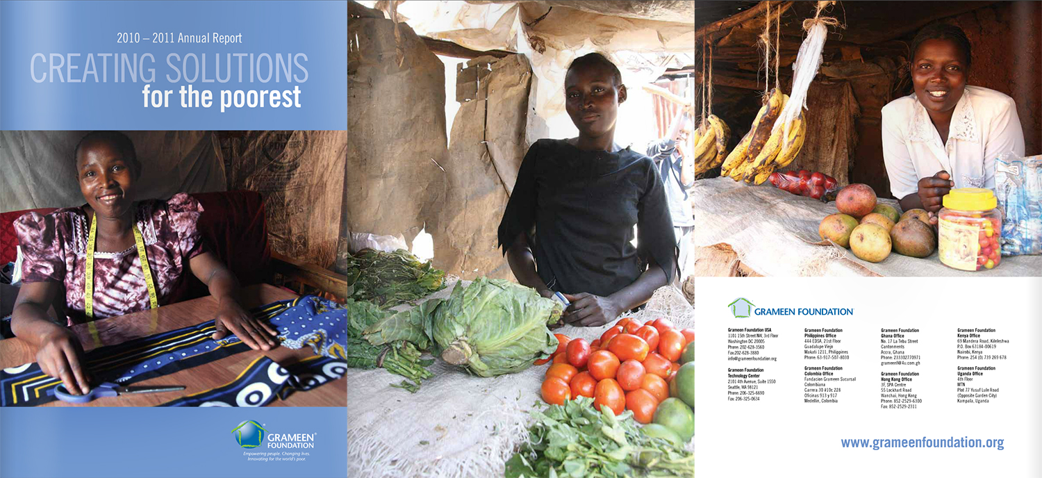Grameen Foundation 2011 Annual Report. Women and their small businesses from small loans, Kibera Slum, Nairobi, Kenya