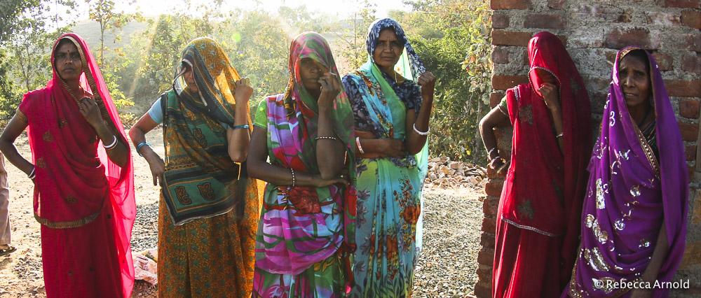 Tribal women in rural Rajasthan