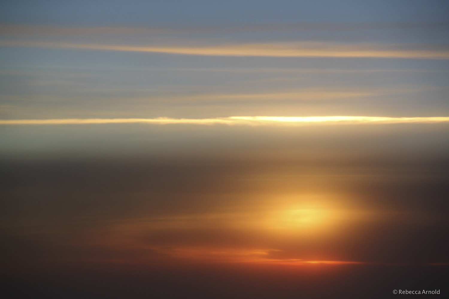Psychedelic Sunset, Over USA