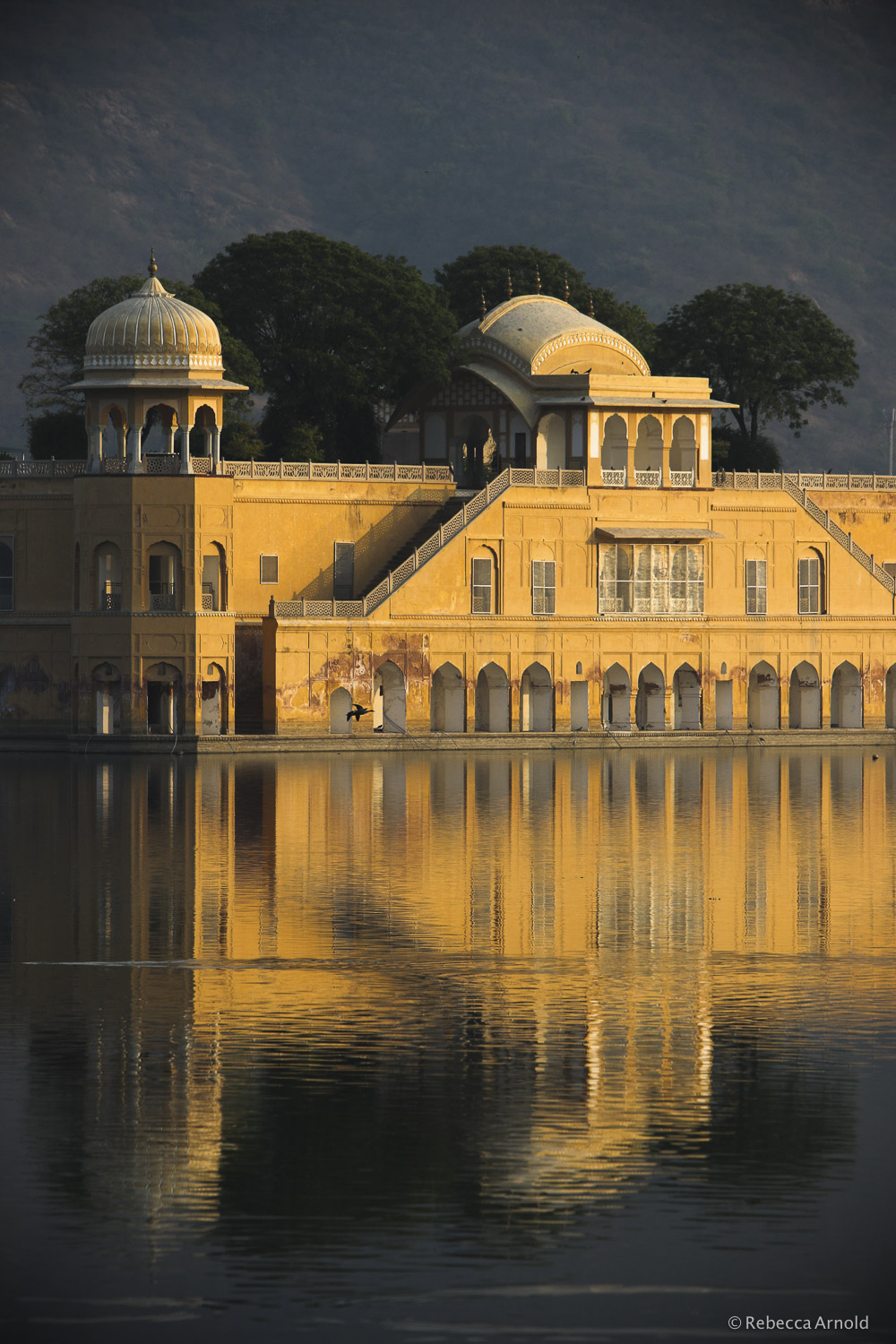 "Golden Lake Palace, India 2015   16"" x 24"" 