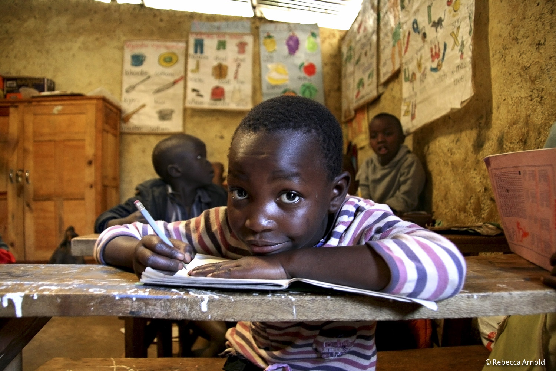 School Lessons, Kibera, Kenya