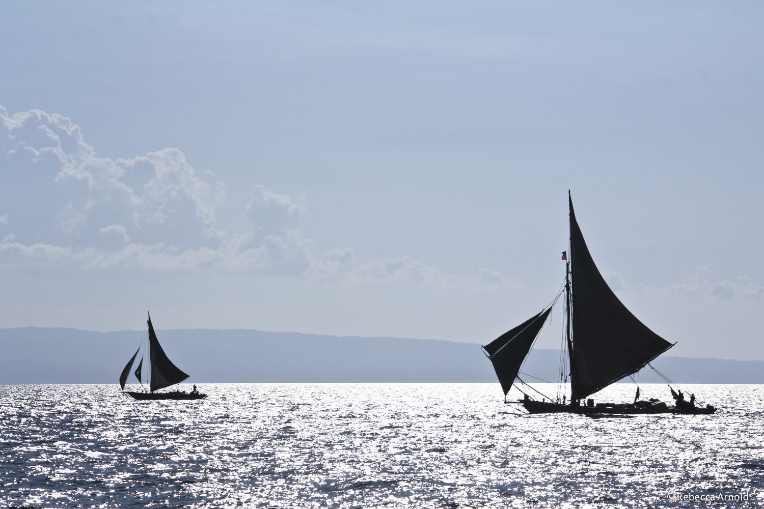 "Shimmering Sail, Haiti 2012  16"" x 24"" 