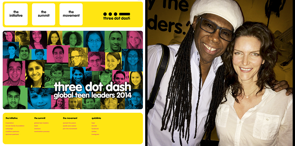 With Nile Rogers at Three Dot Dash Youth Summit