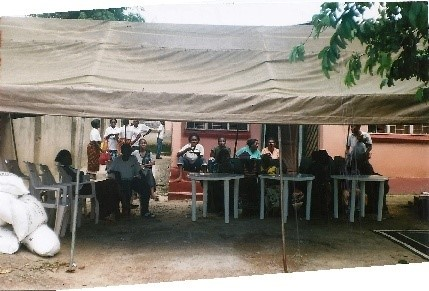 We hired a tent from Chandamalii Barracks where the patients, the volunteers and the invited guests gathered. We thought it could rain