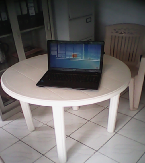 Newly bought laptop in the director's office
