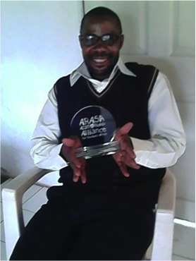 Stanley Mulenga, winner of the ARASA 2014 Trainers Trainer of the year and the Director of Christian Aid Ministries Kitwe - Zambia