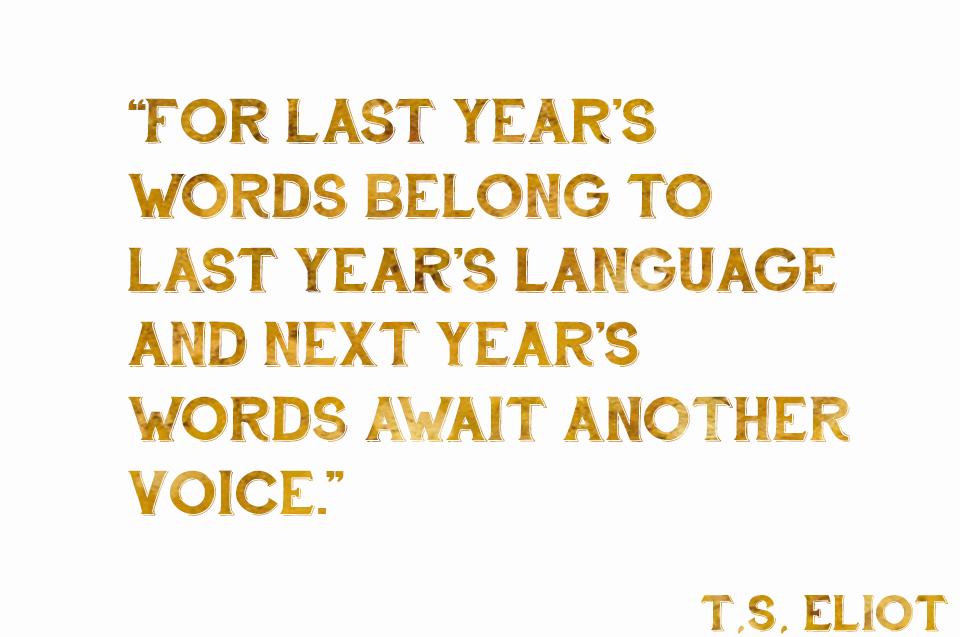 last year's words