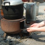 Coal stove in peri-urban Chinese community monitored as part of  Anna Zimmermann 's (GHE '13) research evaluating how household biomass and coal use contributes to outdoor air pollution.