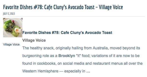 Village Voice Favorite Dish #78