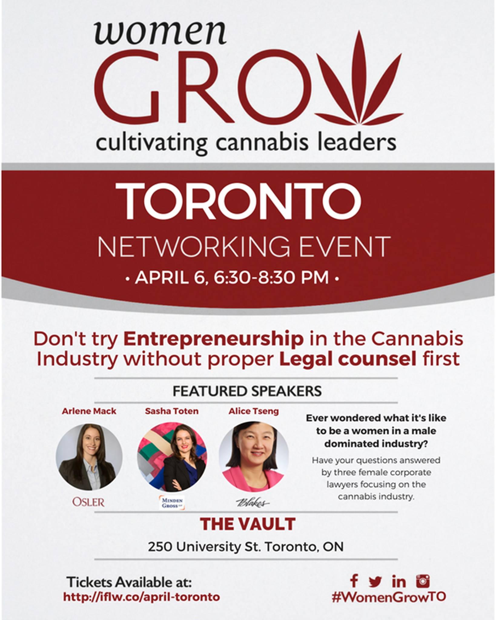 Women Grow April Meeting Flyer