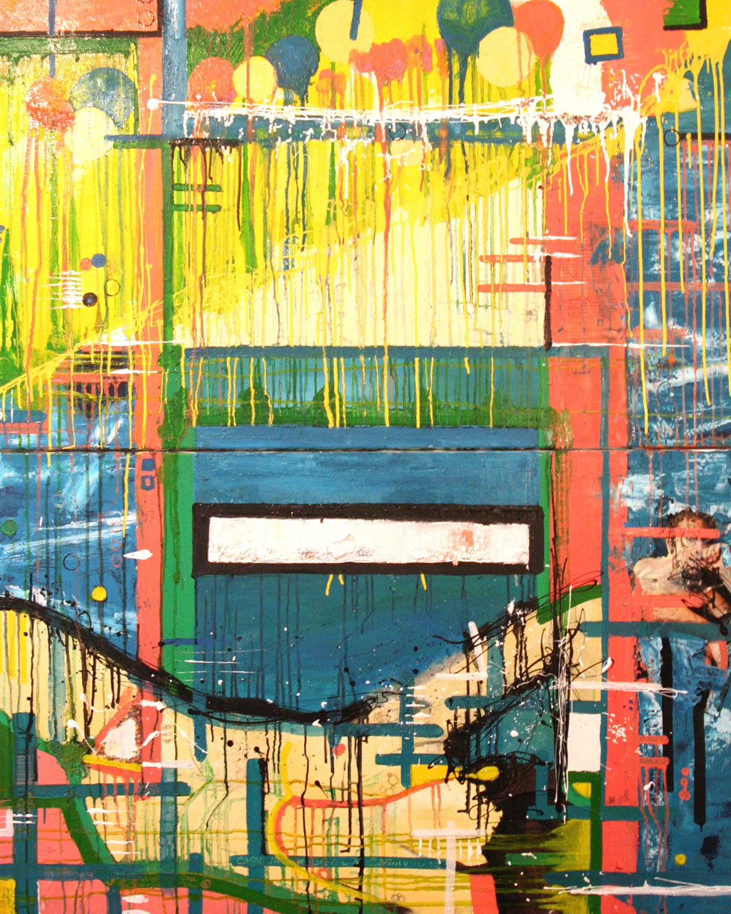 A Dirty Paradise, 2006, Oil and Mixed Media on canvas, 55 x 60 inches