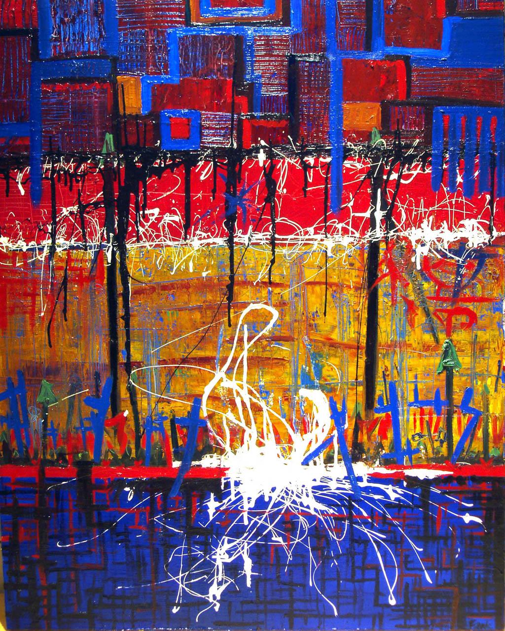 Romantic Proliferation, 2003,Oil on canvas, 36 x 48 inches