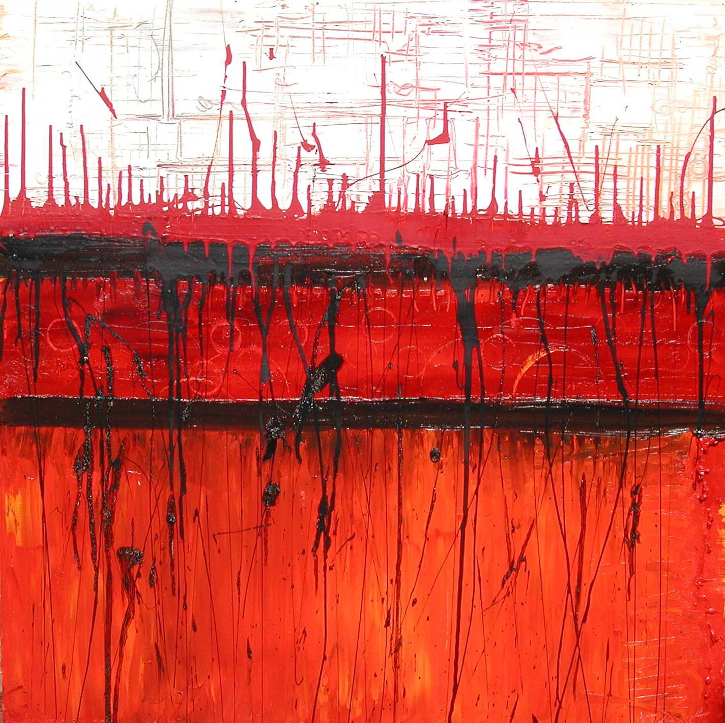 Cardinal Sin, 2002,Oil on canvas, 36 x 36 inches
