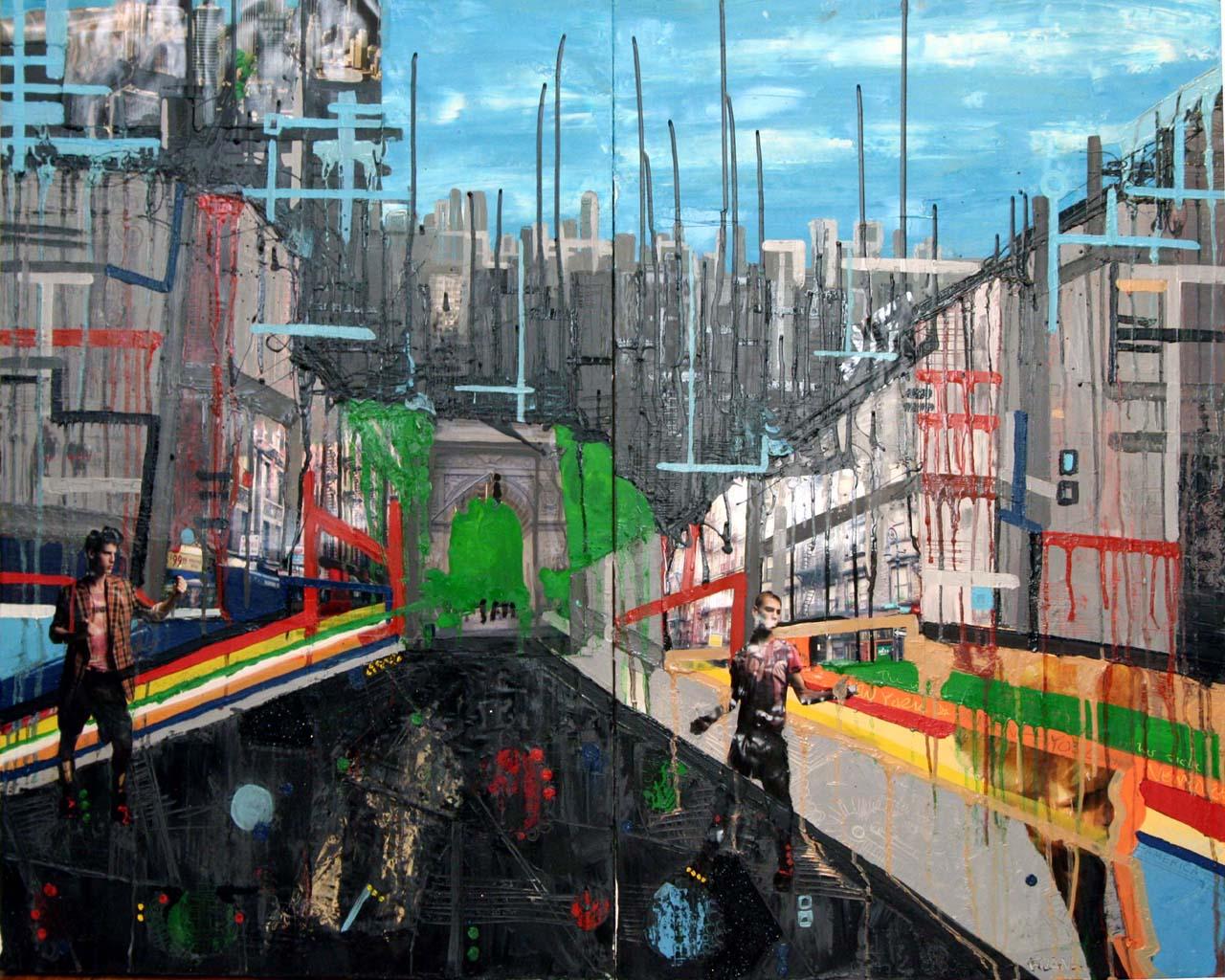 Urban Hip, 2006, Oil on canvas, 36 x 48 inches