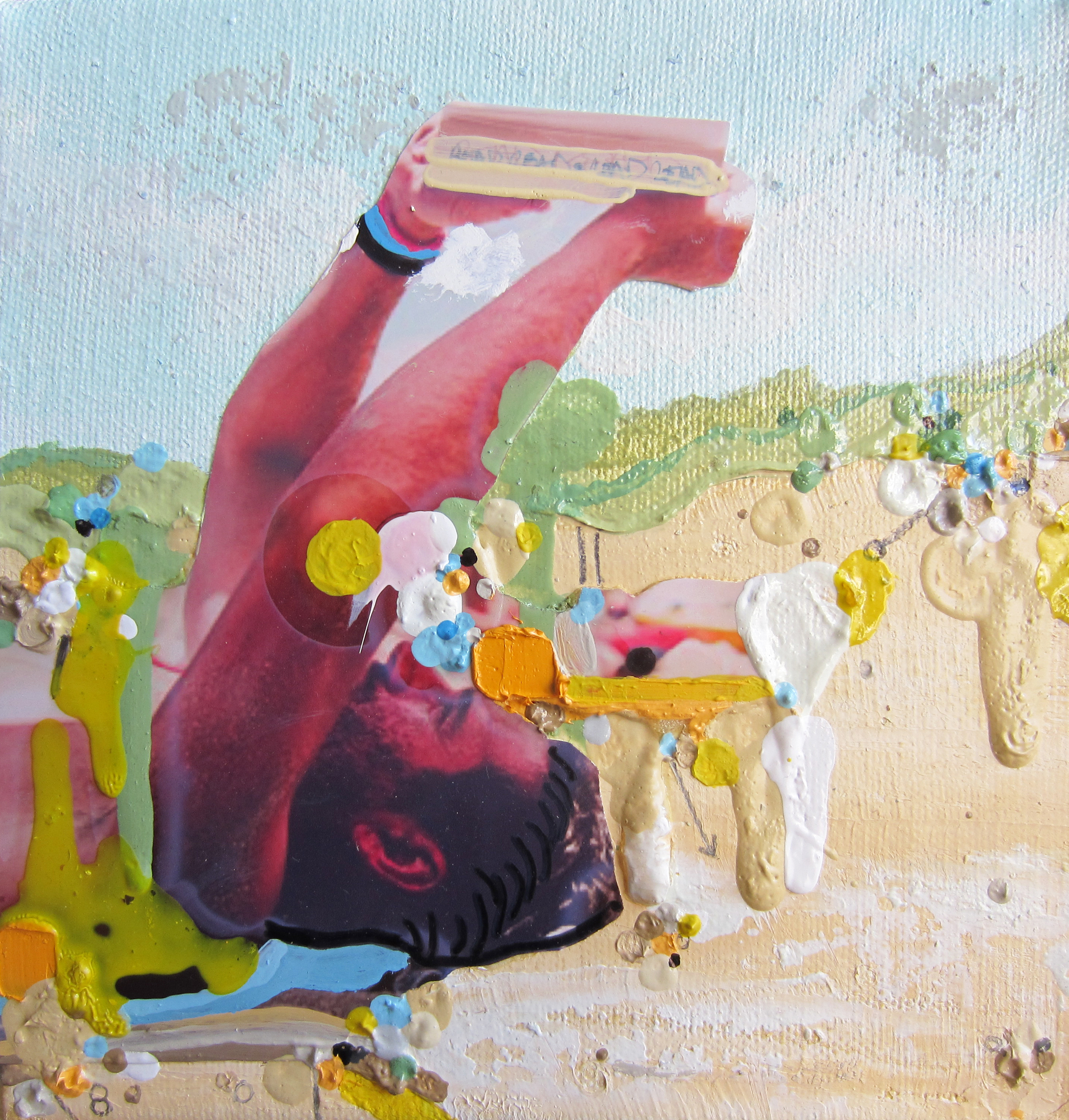 Summer Fantasies, 2014, Oil and Mixed Media on canvas