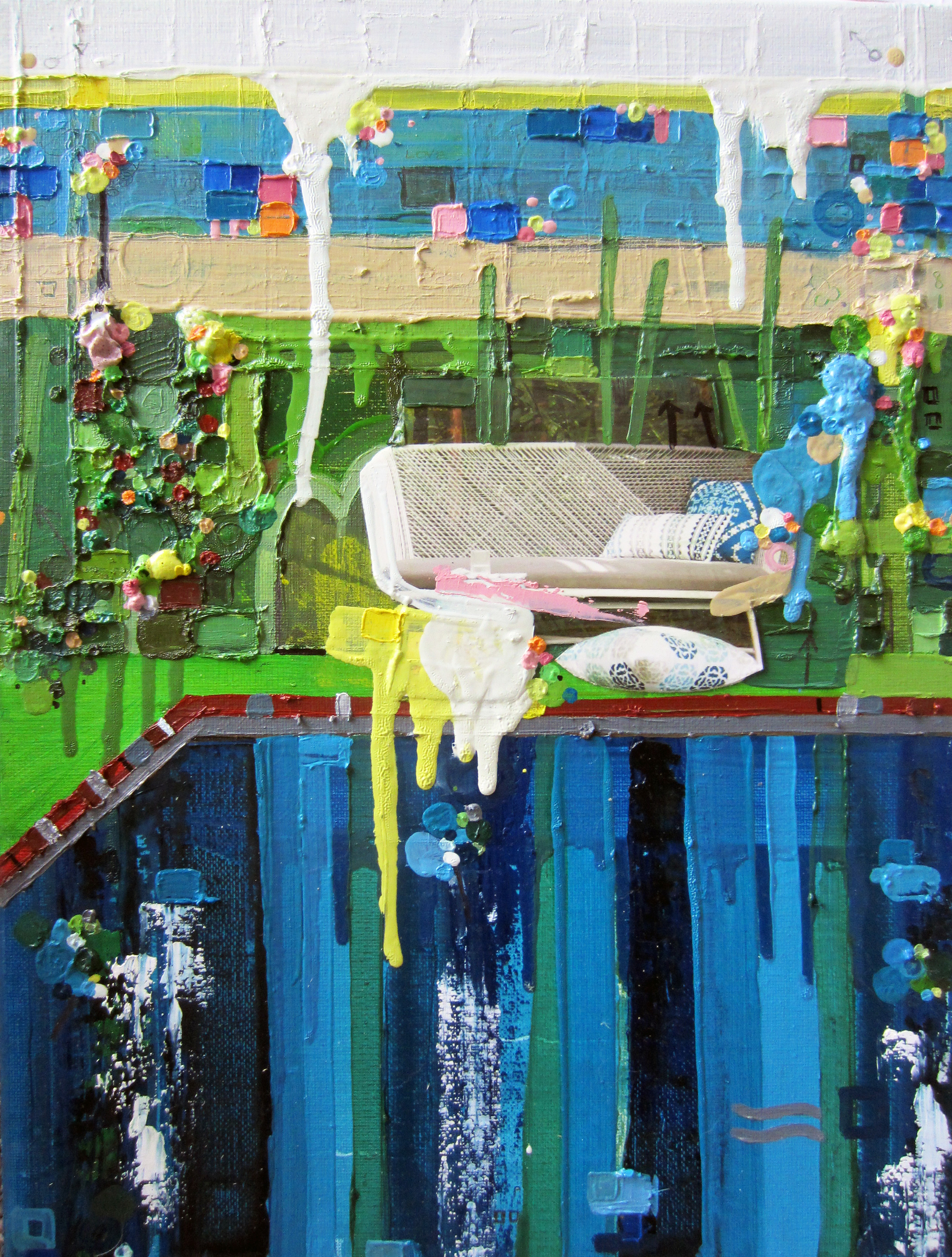 Return To Tropicalia, 2013,Oil and Mixed Media on canvas, 18 x 24 inches