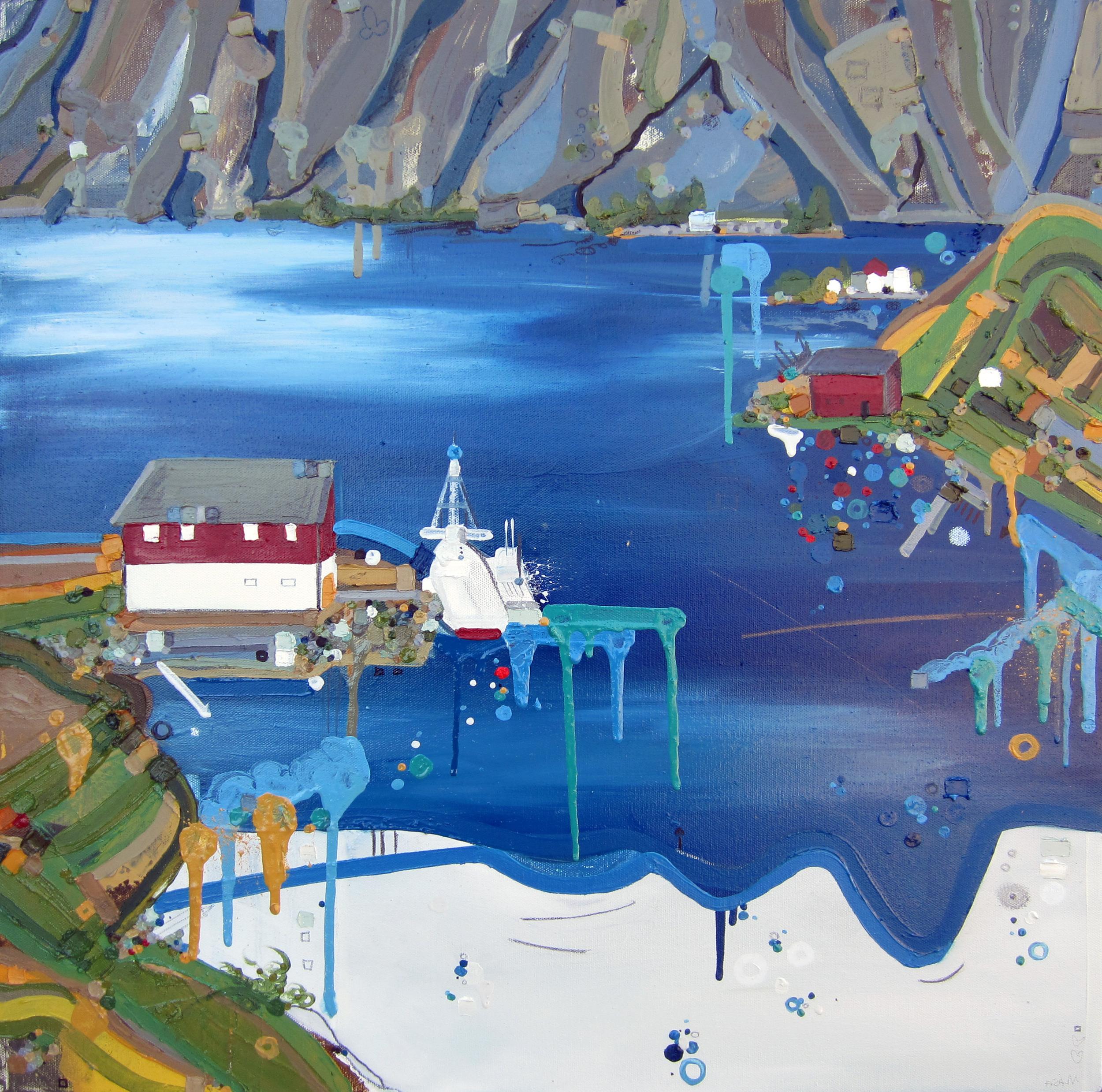 Sund, 2013, Oil on canvas, 24 x 24 inches