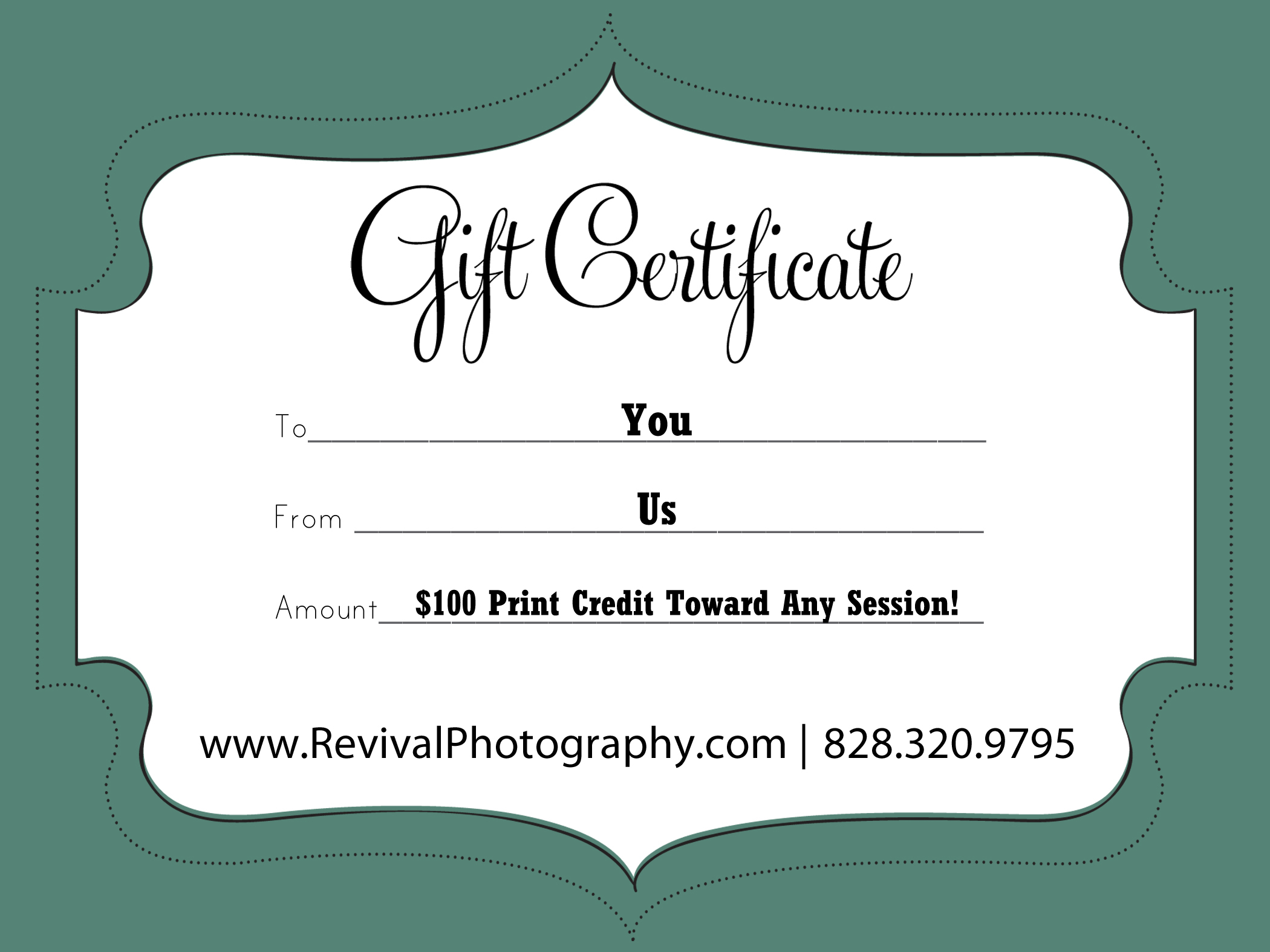 RevivalGiftCertificateTemplate