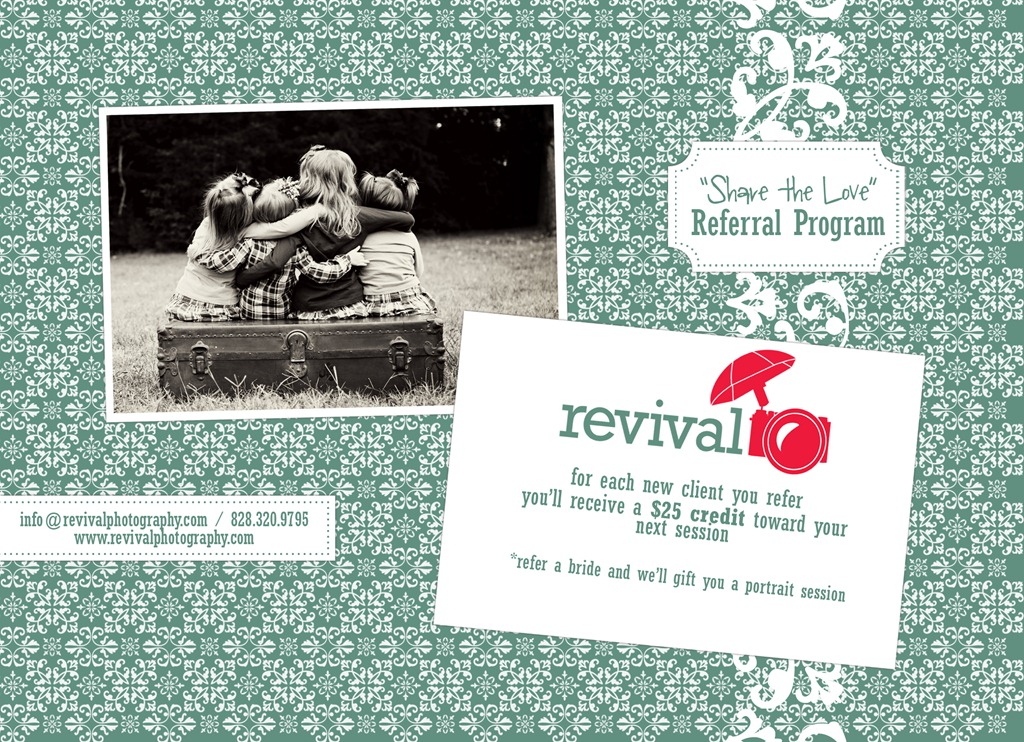 """""""Share the Love"""" Revival Photography Referral Program"""