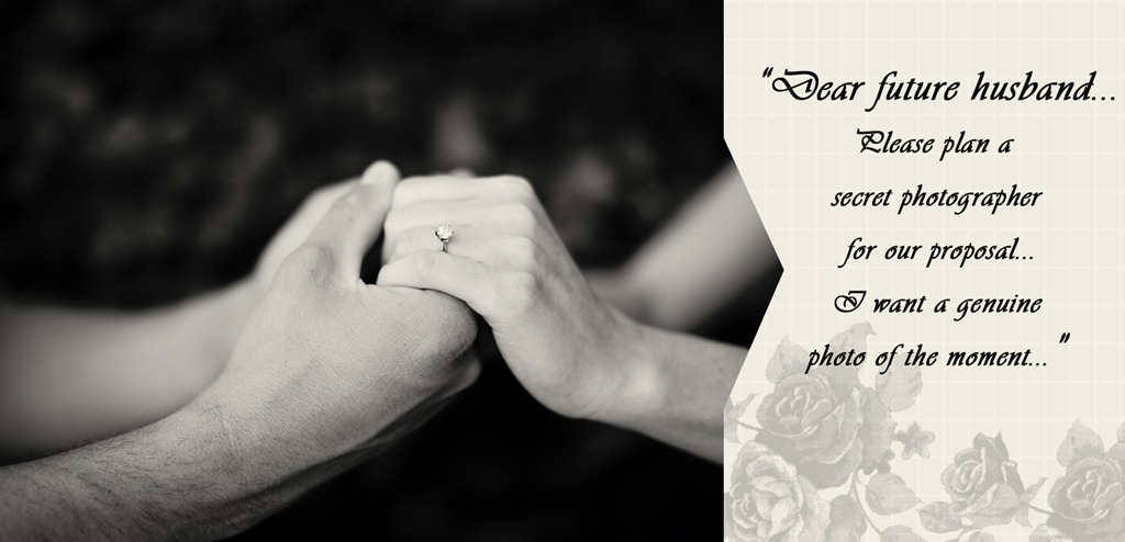 Please plan a secret photographer for our proposal Photos by Revival Photography