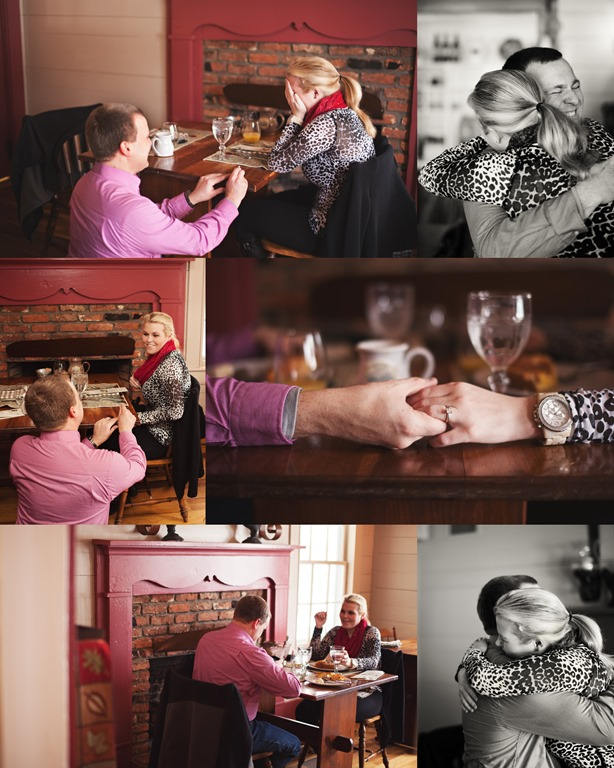 The Breakfast Proposal Package at The Mast Farm inn Photos by Revival Photography