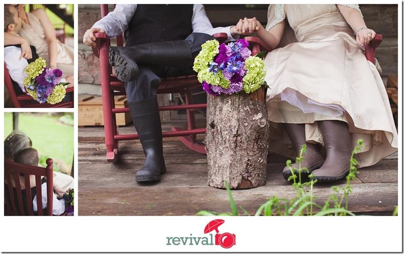 Rain Boots Weddings at The Mast Farm Inn Photography by Revival Photography Photo