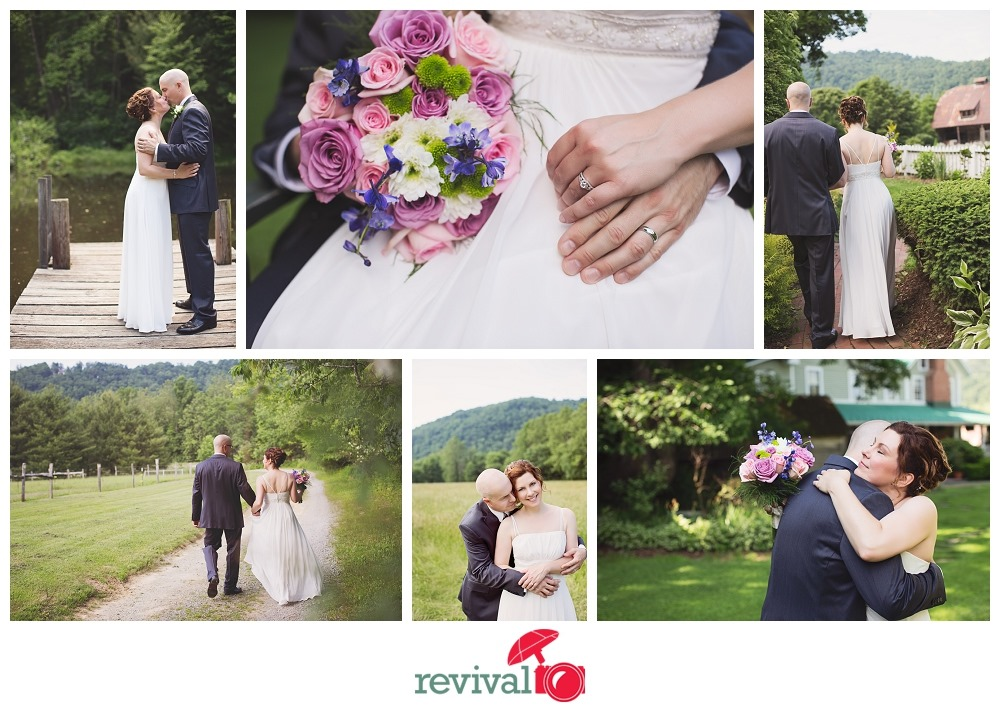 Mountain Elopement Ceremony at The Mast Farm Inn Valle Crucis NC Photos by Revival Photography NC Wedding Photographers Photo