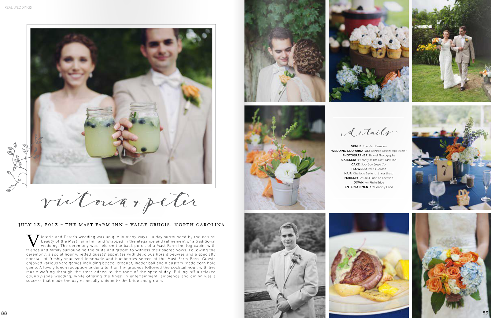 A Mast Farm Inn Wedding Featured in the High Country Wedding Guide