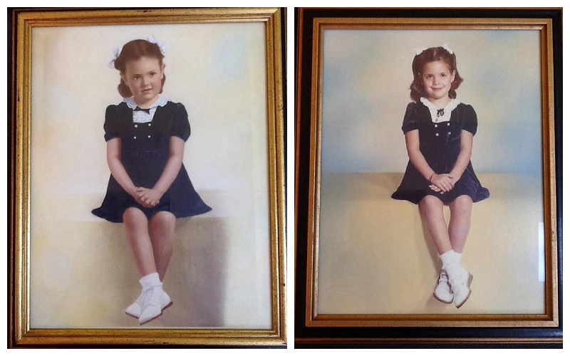Pictured Above:Leigh's mother's vintage portrait from the 1940s, and then Leigh's (Anne's mother) portrait on right side. Leigh sent us images of these to get inspired for Anne's photoshoot!