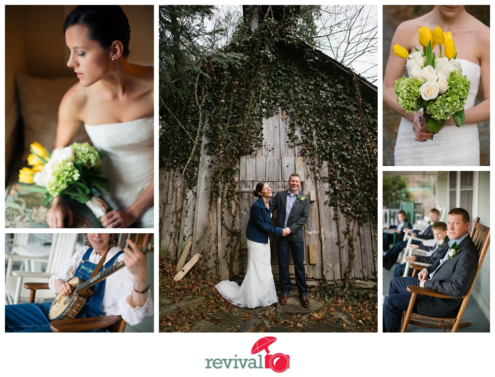 Jamie + Jeffrey: A Simple Vintage-Inspired Valle Crucis Wedding at The Mast Farm Inn Photo by Revival Photography