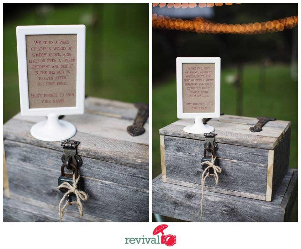First Fight Box at Wedding Idea Photos by Revival Photography