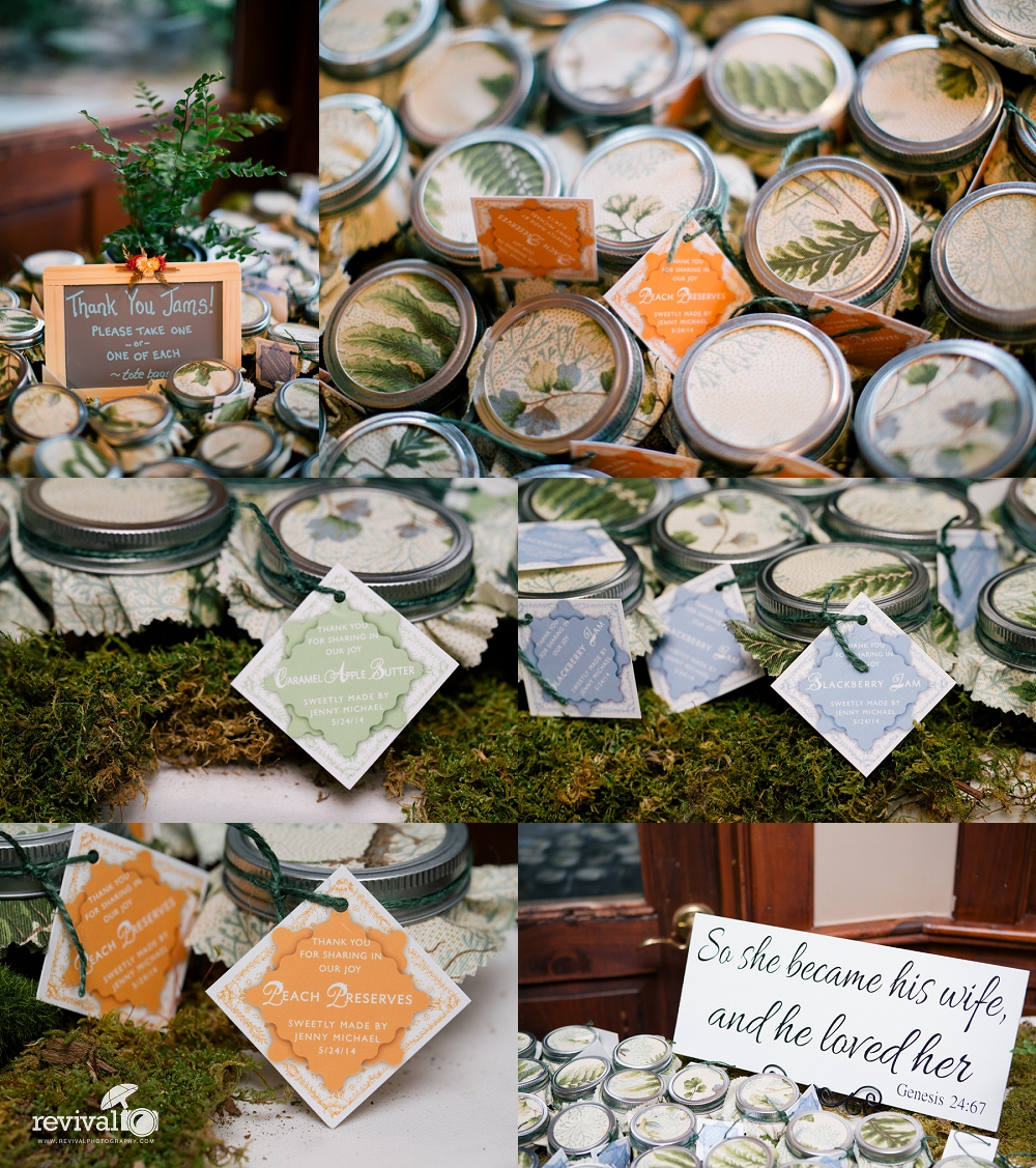 Thank you Jams Thank you Gift Photos by Revival Photography Wedding at the Highland Lake Inn in Flat Rock NC Wedding Photos by www.revivalphotography.com